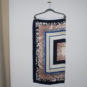 Multi Color Patterned Square Large Scarf